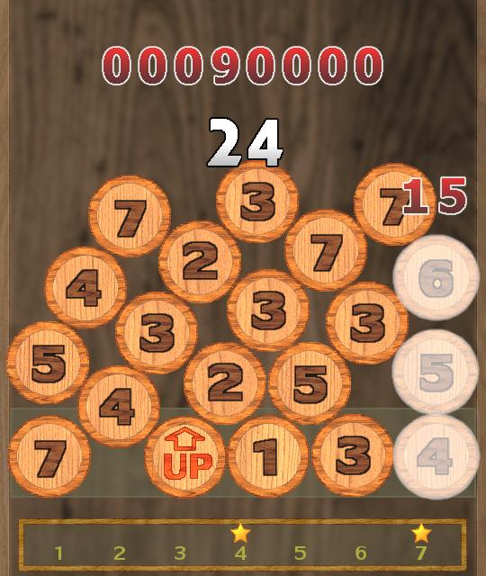 見た目のシンプルさとは裏腹に、最初は難しく、慣れると忙しい。常に足し算で頭を使うゲームになっている