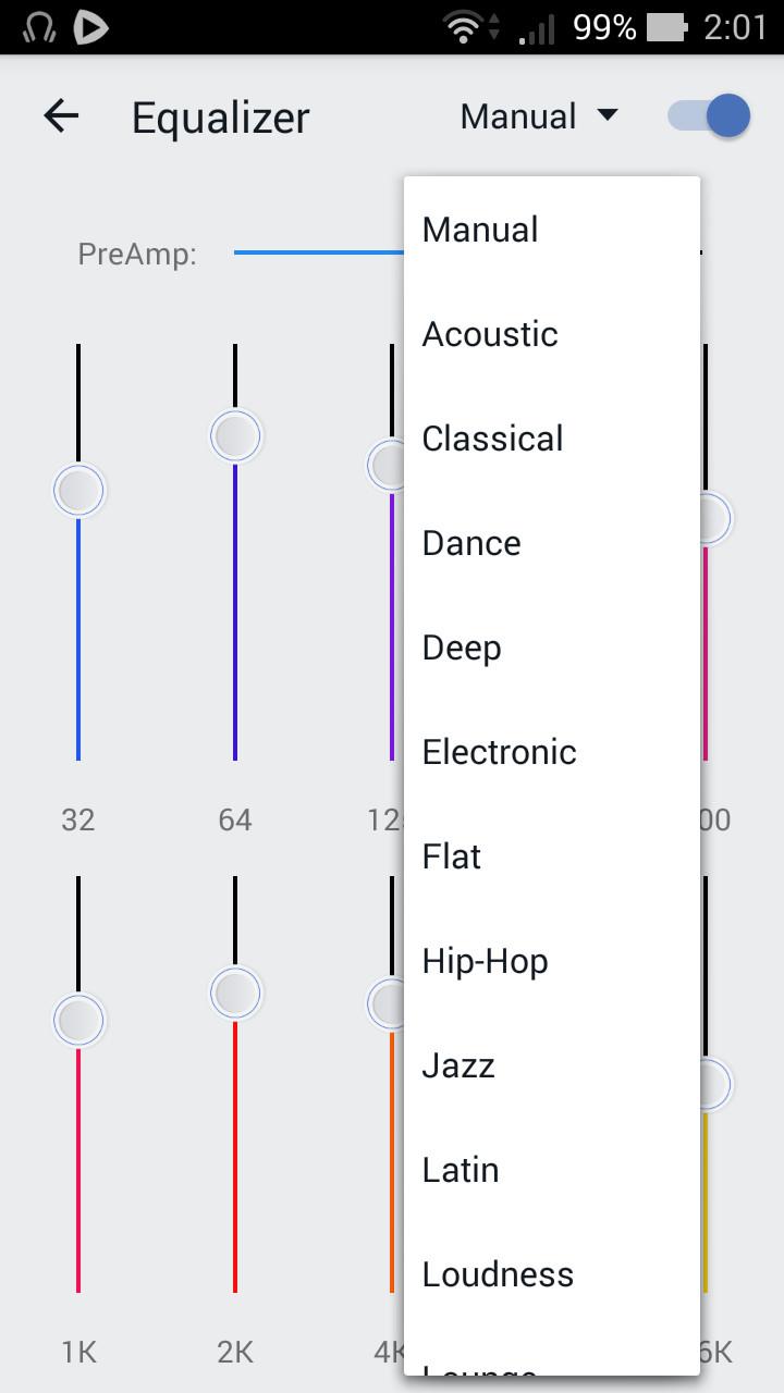 """""""Hip-Hop""""や""""Jazz""""などのプリセットを選択し、各ジャンルに合った音質に調整可能"""