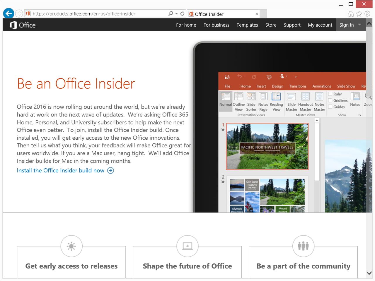 """""""Office Insider""""のWebサイト"""
