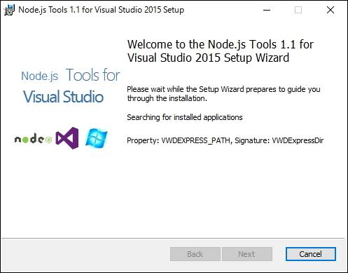 「Node.js Tools for Visual Studio」v1.1