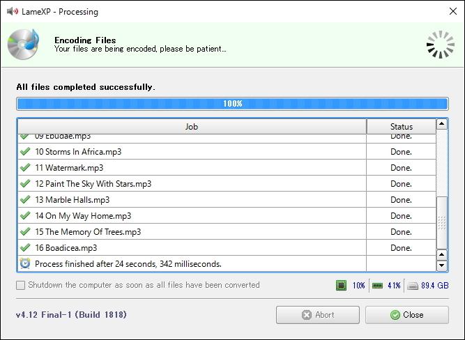 複数のファイルをマルチスレッドで同時に処理することが可能