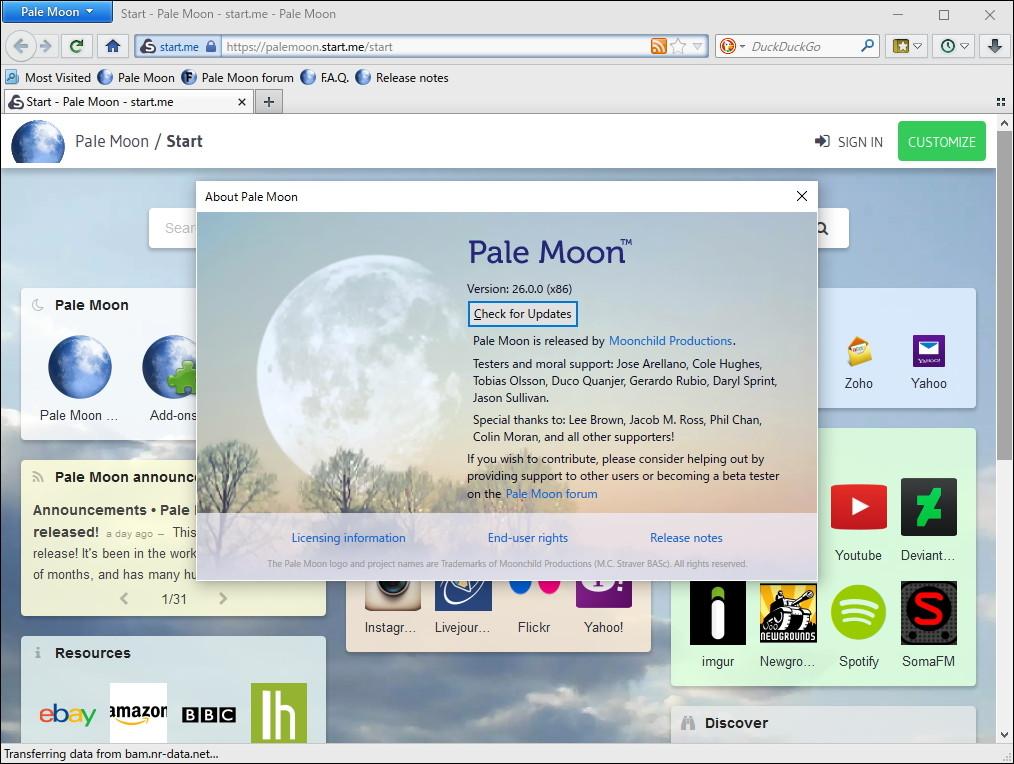 「Pale Moon」v26.0.0