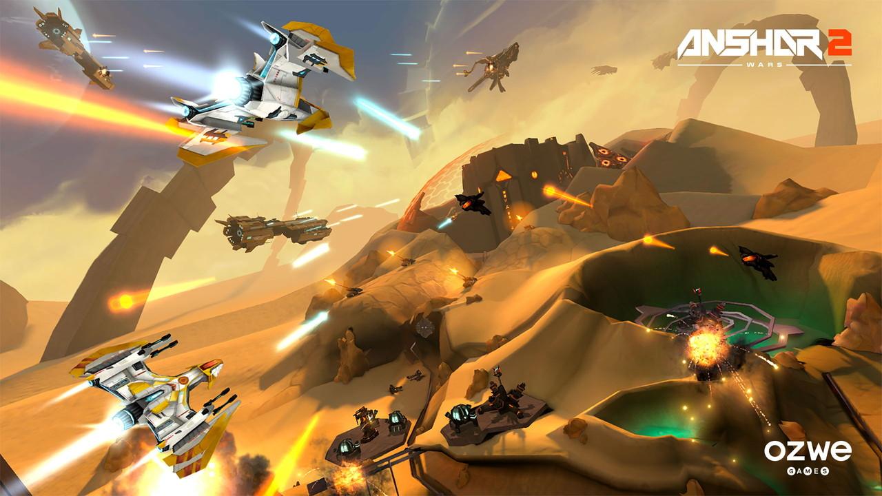 「Anshar Wars 2」。いかにもSFチックな雰囲気だが今回の舞台は宇宙だけではない(本画像はプレスキットより)