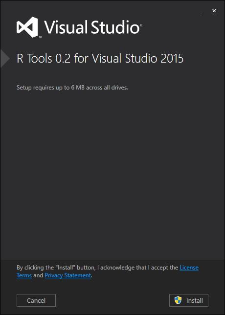 「R Tools for Visual Studio」v0.2