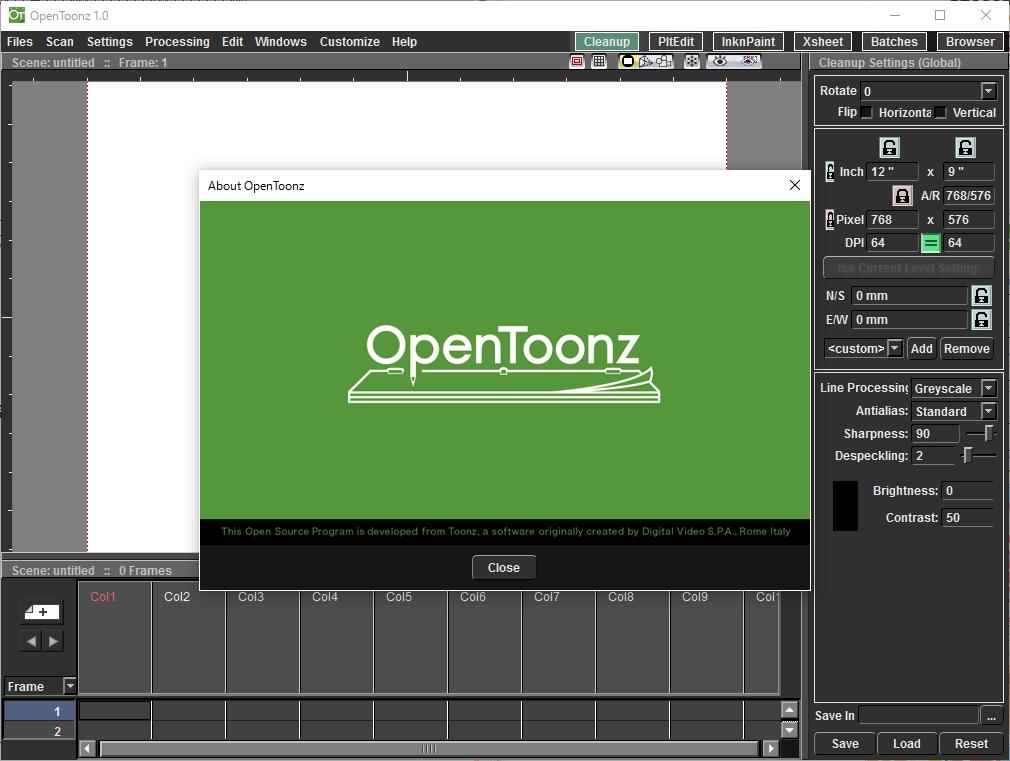 「OpenToonz」v1.0