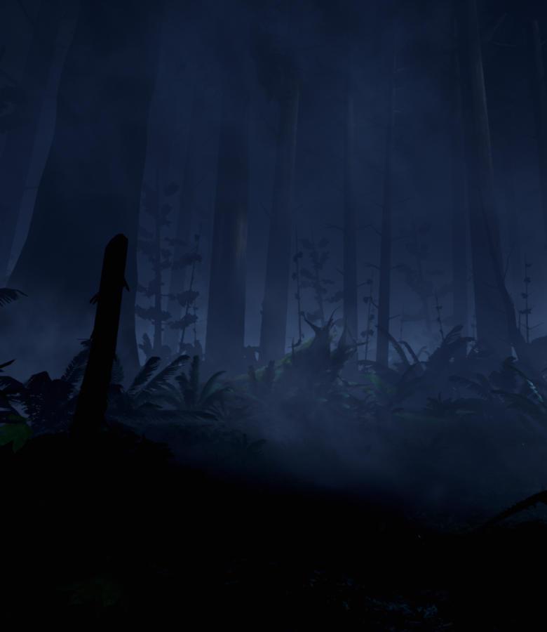 夜の森の雰囲気づくりが秀逸だ。気温まで変化したように感じてしまう