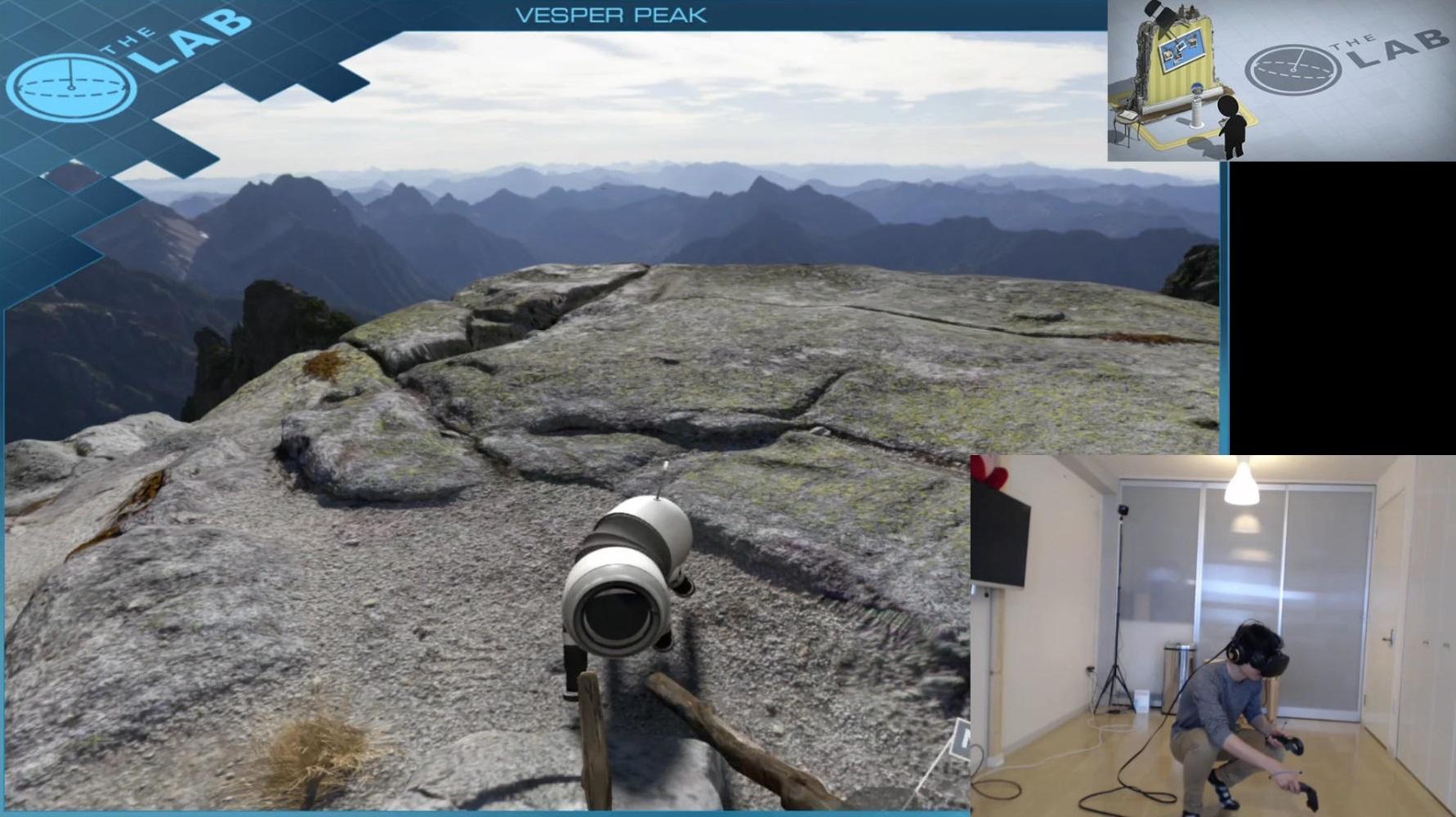 「Vesper Peak」では実写の風景の中を歩きまわり、ロボット犬とも戯れることができる